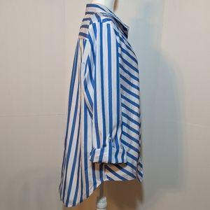 C EST. 1946 Tops - C Est. 1946 Women's Blue/White Top XL